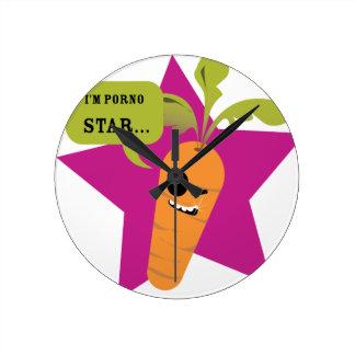 ¡soy una estrella de la pornografía!! © Les Hameço Relojes De Pared