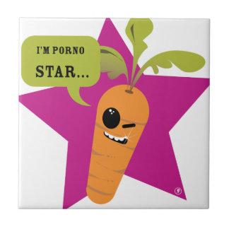 ¡soy una estrella de la pornografía © Les Hameço Azulejo