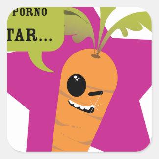 ¡soy una estrella de la pornografía!! © Les Calcomanía Cuadradase
