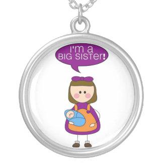 soy una hermana grande (el hermano del bebé) colgante redondo