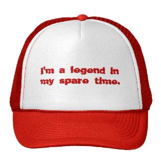 Soy una leyenda en mi tiempo libre gorros bordados