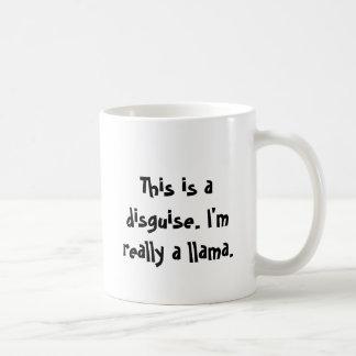 Soy una llama taza básica blanca