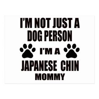 Soy una mamá japonesa de la barbilla postal