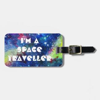 Soy una pintura espacial de la galaxia del viajero etiquetas bolsas