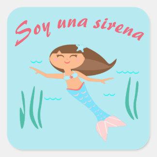"""""""Soy una sirena!"""" Pegatina de la lengua española"""