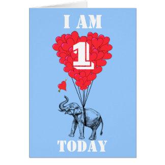 Soy uno hoy tarjeta de felicitación