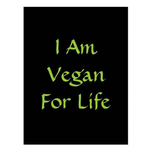 Soy vegano para la vida. Verde. Lema. Personalizad Tarjeta Postal