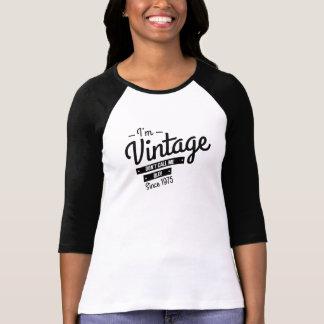 Soy vintage desde 1975 camiseta