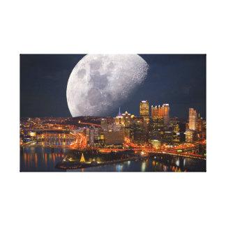 Spacey Pittsburgh Impresión En Lienzo