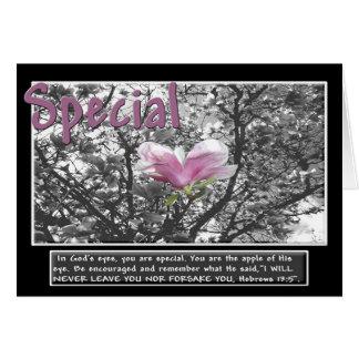 Special en los ojos de dios tarjeta de felicitación