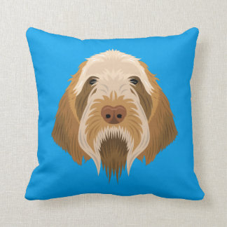 Spinone azul Italiano Cojín Decorativo