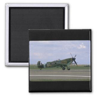 Spitfire británico en los aviones de Airfield_WWII Imanes