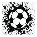 splatz del fútbol anuncio personalizado