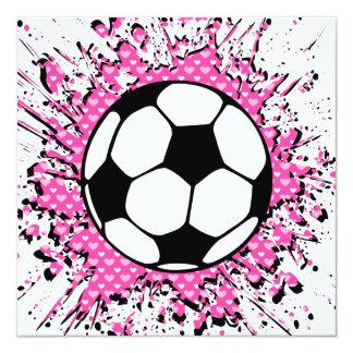 splatz del fútbol invitación 13,3 cm x 13,3cm