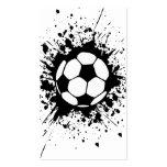 splatz del fútbol tarjetas de visita