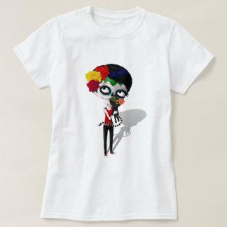 Spooky Dia de Los Muertos Girl Camiseta