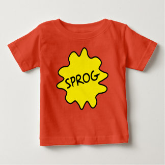 Sprog, camiseta británica del bebé del argot