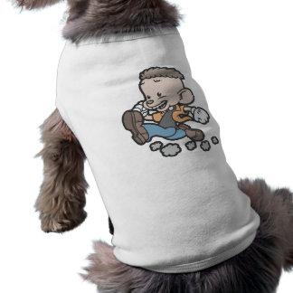 Spucky de funcionamiento camiseta sin mangas para perro