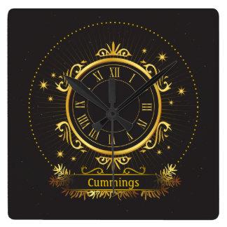 Sq conocido personalizada elegancia de oro. Reloj