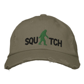 Squatch con el logotipo grande de Bigfoot Gorra Bordada