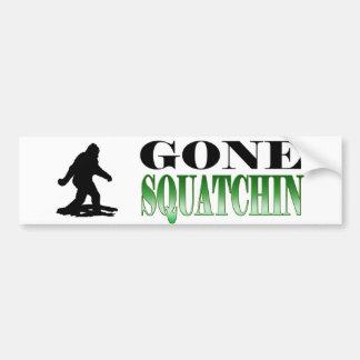 Squatchin ido *BEST*, encontrando Bigfoot, Pegatina Para Coche