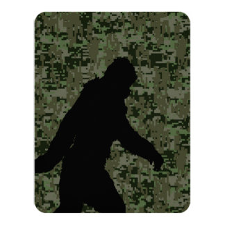 Squatchin ido para en el camuflaje verde oliva de invitación 10,8 x 13,9 cm