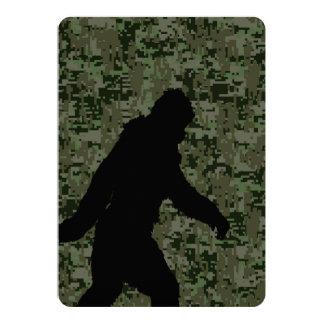 Squatchin ido para en el camuflaje verde oliva de invitación 12,7 x 17,8 cm