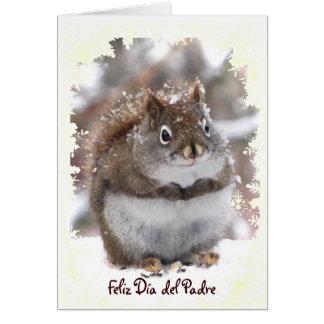 Squirrel dulce Dia del Padre Tarjeta De Felicitación