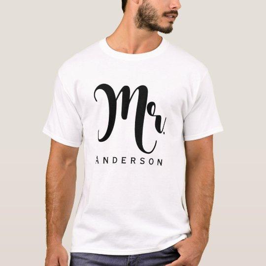Sr. banquete de boda moderno de moda de la camiseta