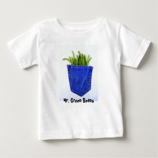 Sr. camiseta del bebé de las habas verdes