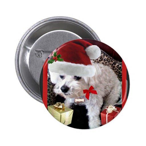 SR. CLAWS CHRISTMAS DOG PRINT PIN