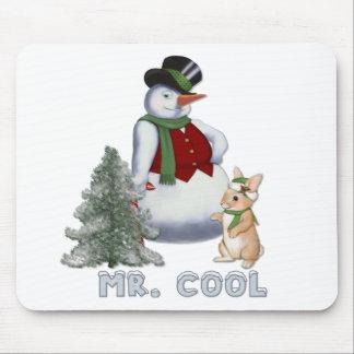 Sr. Cool - muñeco de nieve Alfombrilla De Ratón