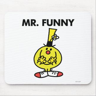 Sr. de risa Funny With Flower Alfombrilla De Ratón