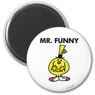 Sr. de risa Funny With Flower Imán Redondo 5 Cm