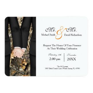 Sr. elegante y Sr. Tuxedo Couple Wedding Invitación 12,7 X 17,8 Cm