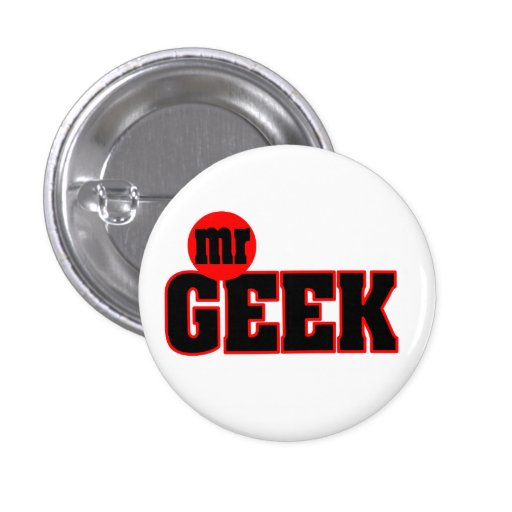 Sr. Geek Button Pins