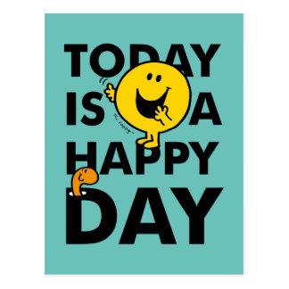 Sr. Happy el | es hoy un día feliz Postal