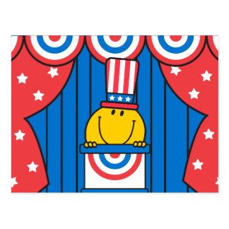 Sr. Happy en el podio Postal