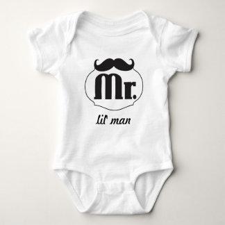 Sr. Lil' Man Baby del inconformista Body Para Bebé