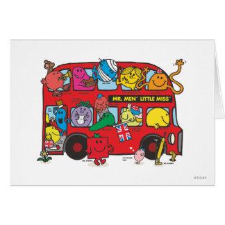 Sr. Men y pequeña Bus de Srta. Crowded Tarjeta De Felicitación