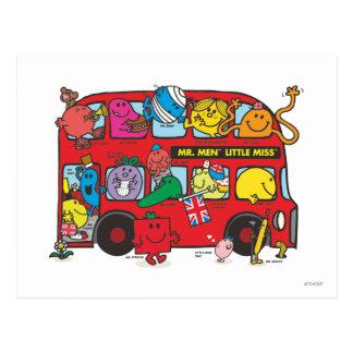 Sr. Men y pequeña Bus de Srta. Crowded Postal