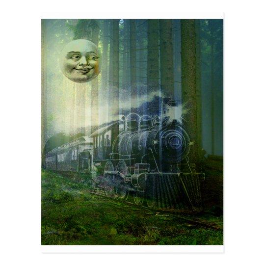 SR. MOON Y FANTASMA TRAIN.jpg Postal
