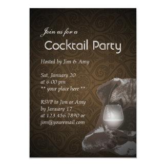 Sr. Pug y invitaciones del cóctel del vino fino Invitacion Personalizada