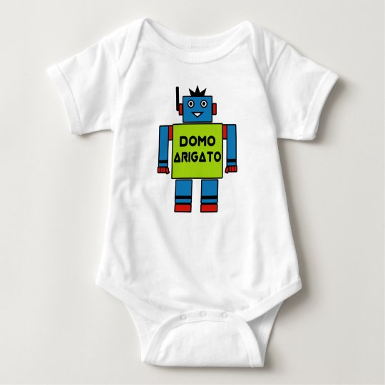 Sr roboto baby bodysuit de domo arigato body para beb zazzle - Domo bebe ...