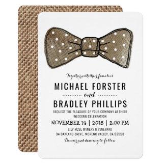 Sr. rústico gay y Sr. Burlap Classy Wedding Invitación 12,7 X 17,8 Cm