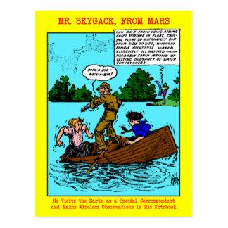 Sr. Skygack Observes Boaters Postcards Postal