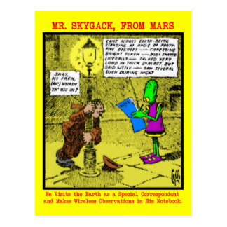 Sr. Skygack Observes un borracho Postal