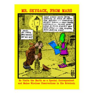 Sr. Skygack Observes un borracho Tarjeta Postal