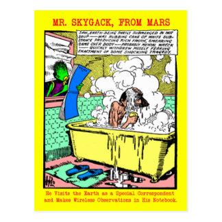 Sr. Skygack Observes un hombre que se baña Postal