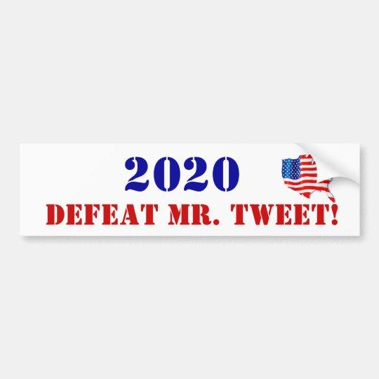 Sr. Tweet de la derrota de la elección 2020 de la Pegatina Para Coche